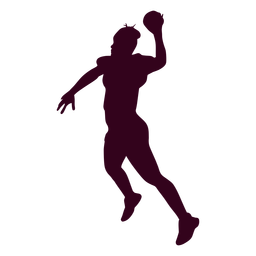Jumping woman handball player people silhouette
