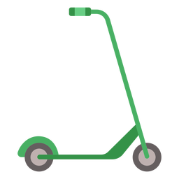 Kick scooter vehicle flat