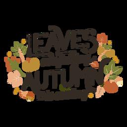 Folhas estão caindo letras