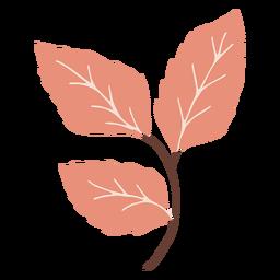 Galho de folhas plana