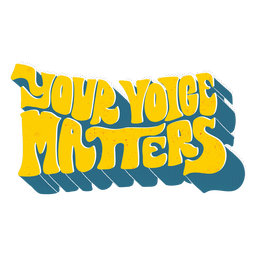 Lettering your voice matters