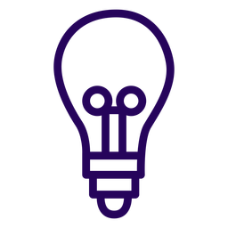 Lightbulb stroke icon lightbulb