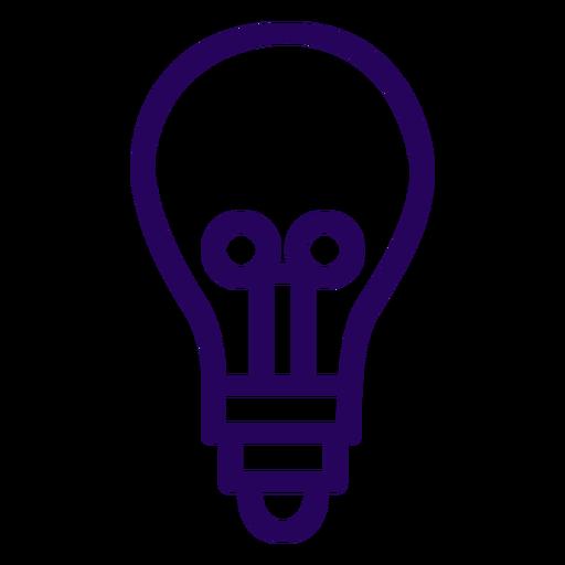 Bombilla de icono de trazo de bombilla Transparent PNG