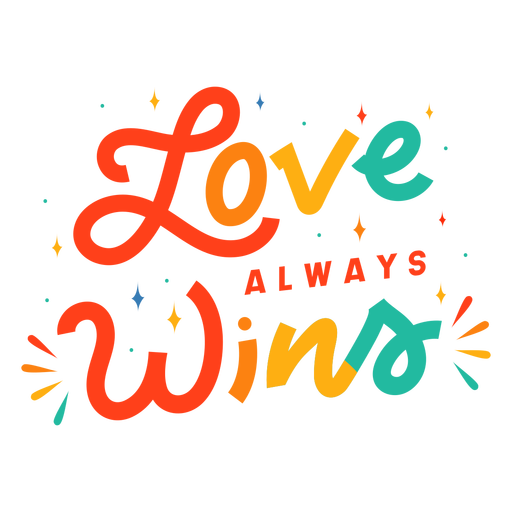 Love always wins lettering Transparent PNG