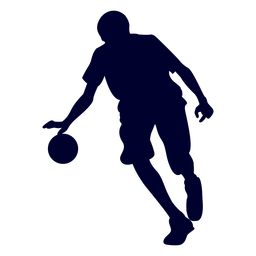 Male handball player people silhouette
