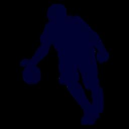 Silueta de personas de jugador de balonmano masculino