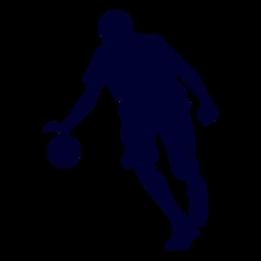 Male handball player people silhouette