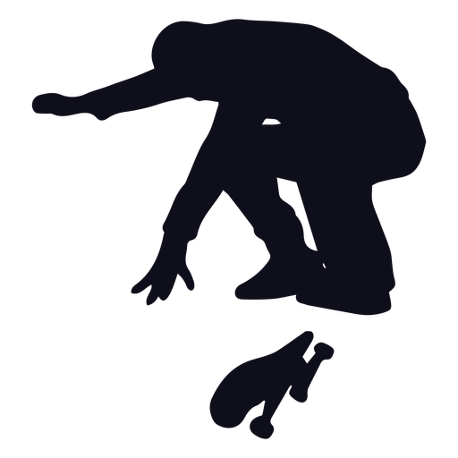 Male skater jump silhouette