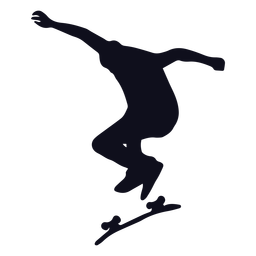 Skatista de silhueta masculina