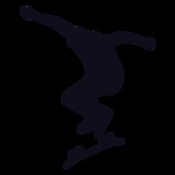 Skatista masculino silhueta skatista
