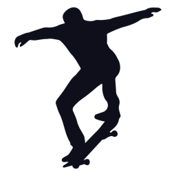 Silhueta de truques de skatista masculino