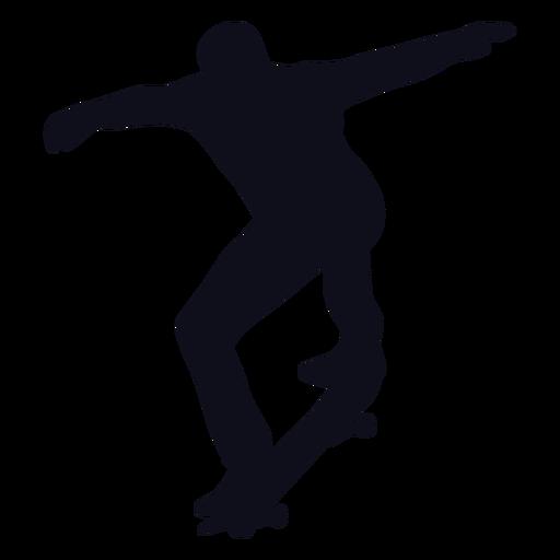 Male skater tricks silhouette