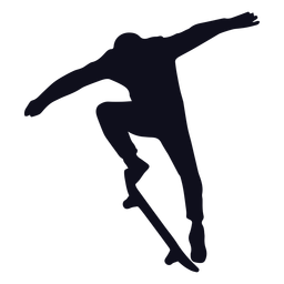 Male skating jump silhouette