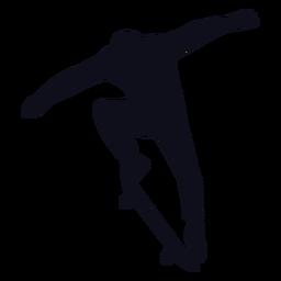 Silueta de salto de patinaje masculino