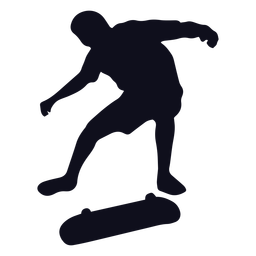 Male skating silhouette