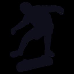 Silueta de patinaje masculino
