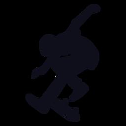 Male tricks skating silhouette