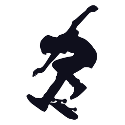 Trucos masculinos silueta de patinaje