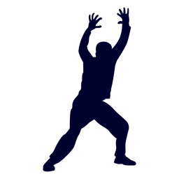 Man handball player people silhouette