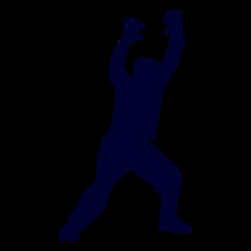 Man handball player people silhouette