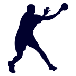 Silueta de deporte de balonmano hombre