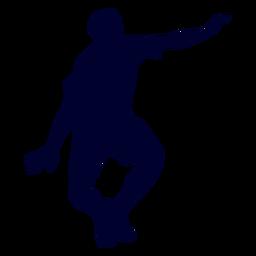 Hombre jugando silueta de balonmano