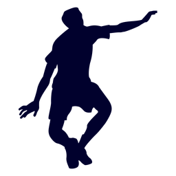 Man playing handball silhouette