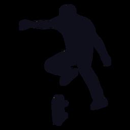 Man skater jump silhouette