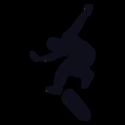 Silhueta de skatista de homem