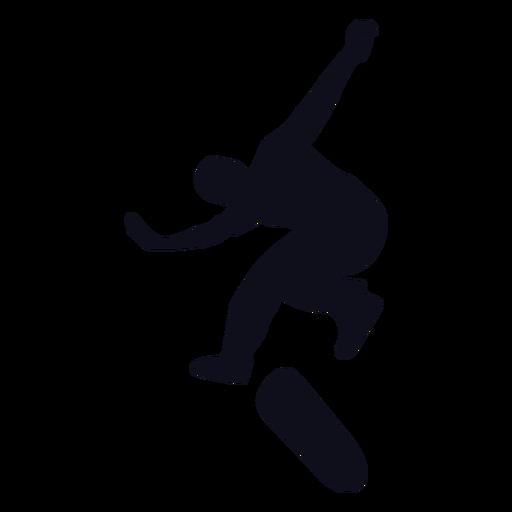 Silueta de hombre skater