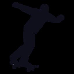 Silueta de trucos de patinador de hombre