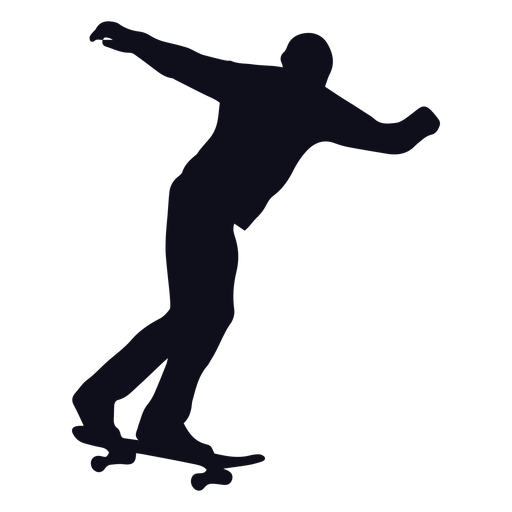 Man skater tricks silhouette