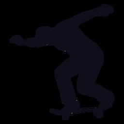 Hombre, patinaje, silueta