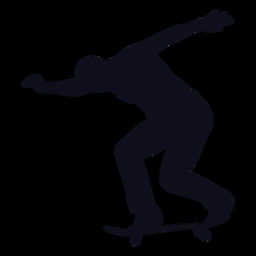 Silueta de patinaje de hombre