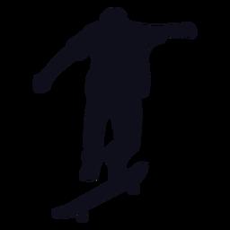 Trucos de hombre silueta de patinaje