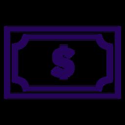 Icono de trazo de factura de dinero factura de dinero