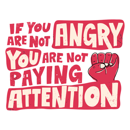 Not paying attention blm lettering Transparent PNG