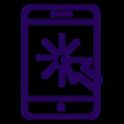 Clique no ícone de toque de celular on-line