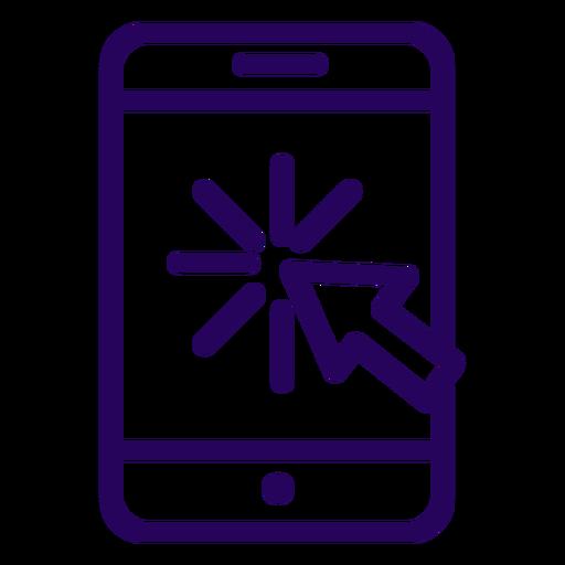 Online click cellphone stroke icon