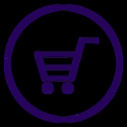Ícone de traço de compras online compras online