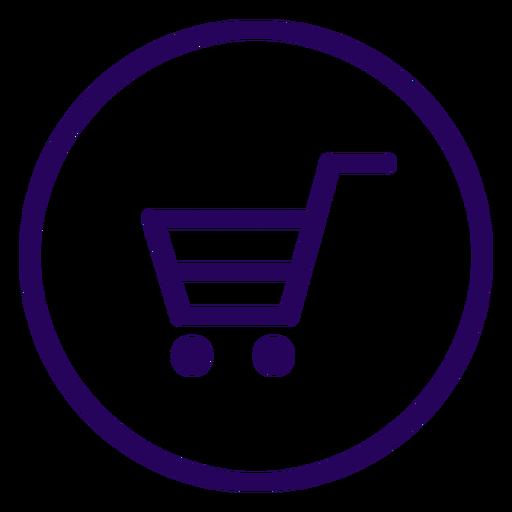 Icono de trazo de compras en línea compras en línea