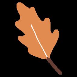 Orange leaf flat