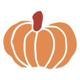 Naranja calabaza plana