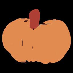 Orange pumpkin flat
