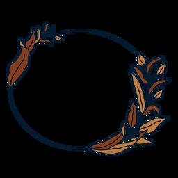 Ornament circular floral frame