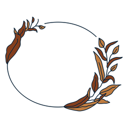 Quadro floral circular de ornamento