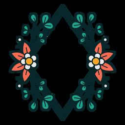 Adorno marco floral de diamantes