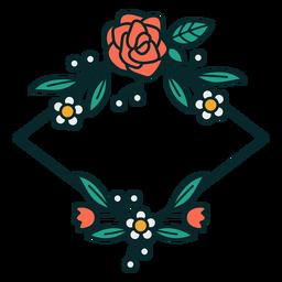 Adorno floral marco de diamantes