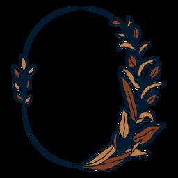 Ornament floral oval frame