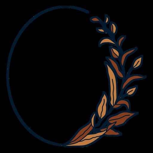 Marco ovalado de adorno
